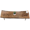Industrial Modern Live Edge Coffee Table