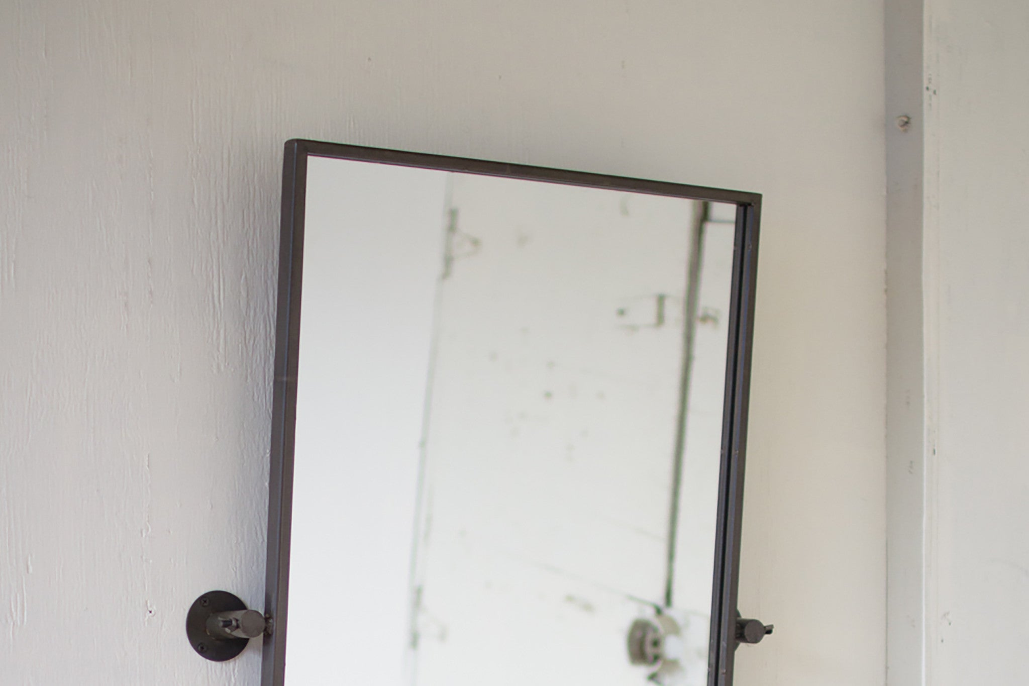 Raw Metal Adjustable Industrial Modern Wall Mirror