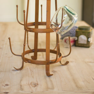 Rustic Iron Glass Drying Rack
