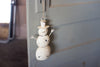 Iron White Washed Snowman Door Hanger