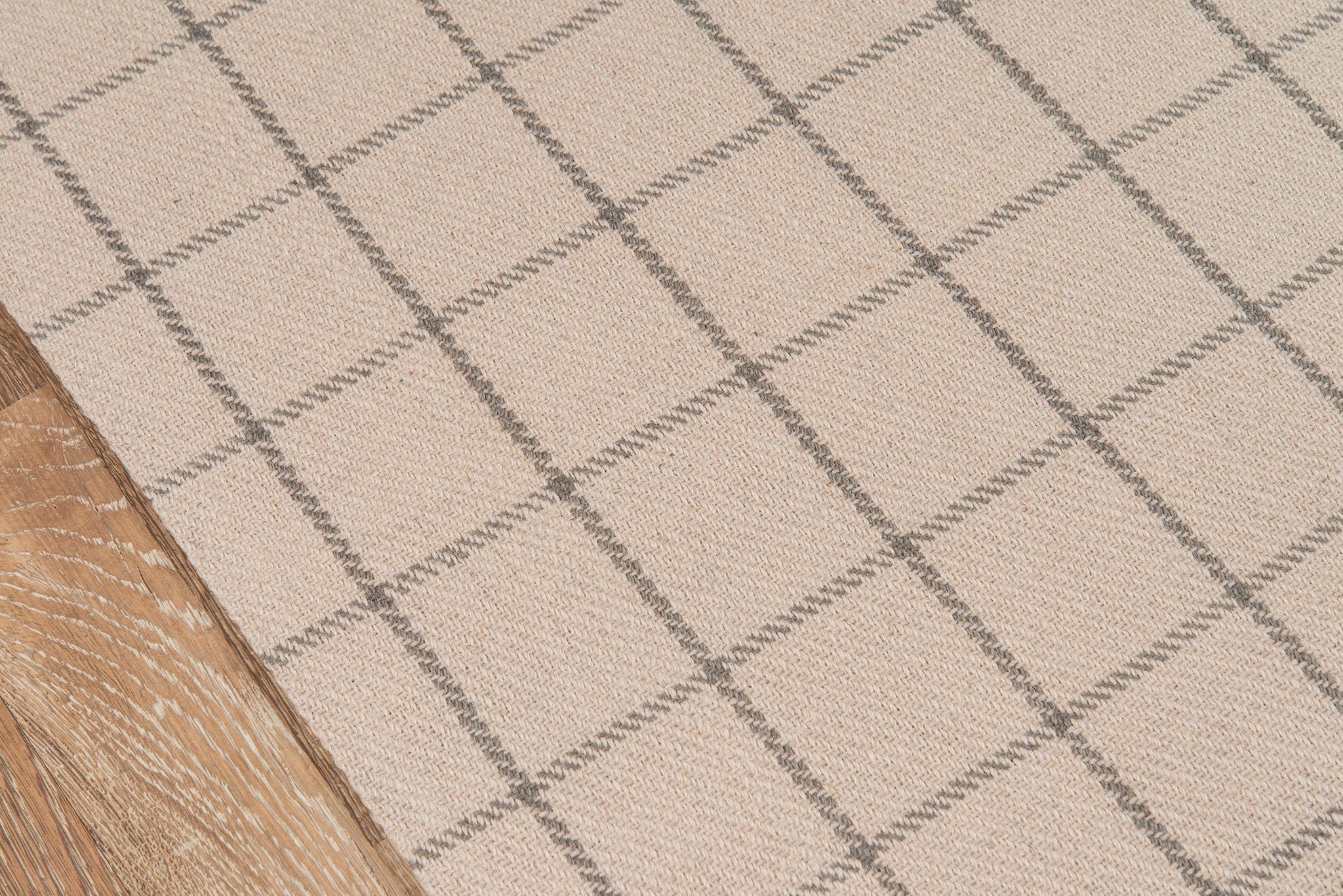 Ivory Plaid Tartan Wool Area Rug - Erin Gates - Marlborough