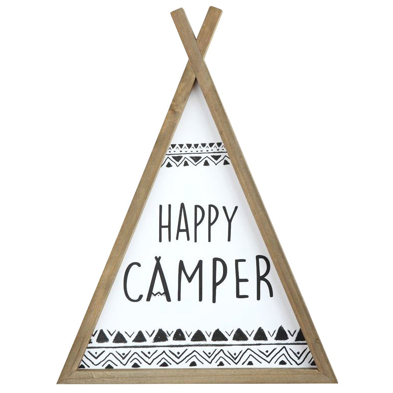 Kids Happy Camper Modern Trendy Teepee Wall Art Decor