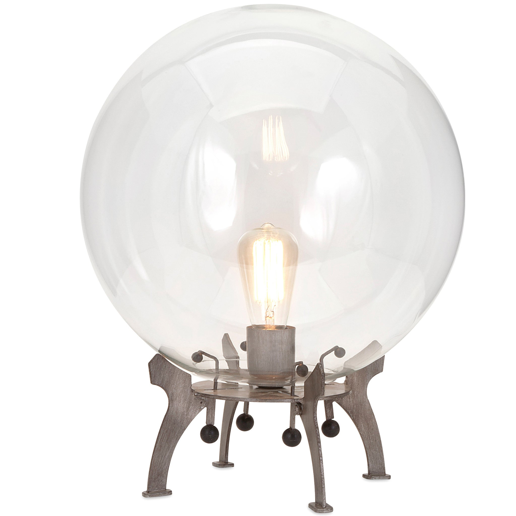 Large Glass Edison Globe Industrial Modern Table Lamp