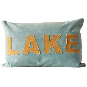Light Blue Lake Pillow