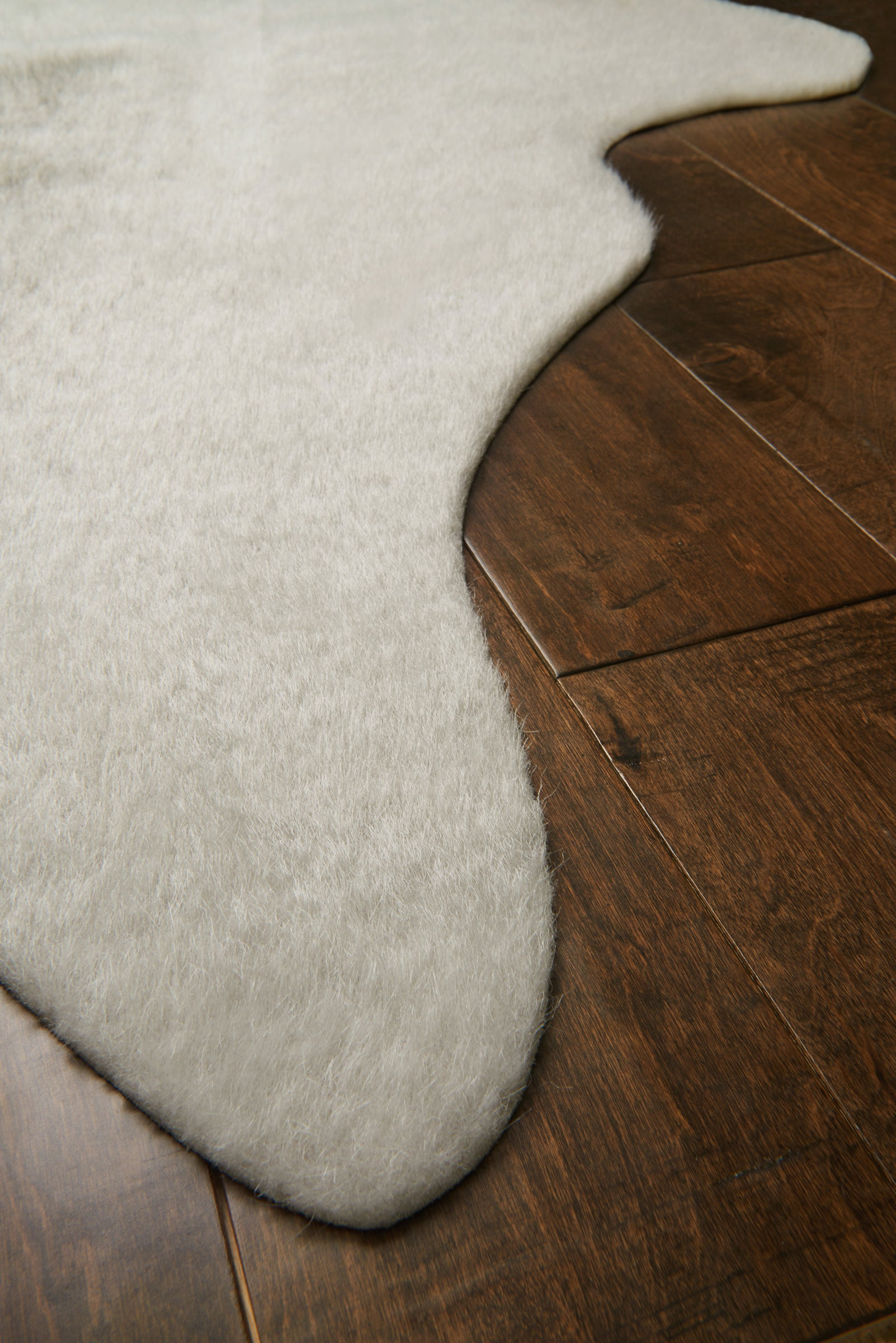 Light Gray and Tan Cowhide Rug