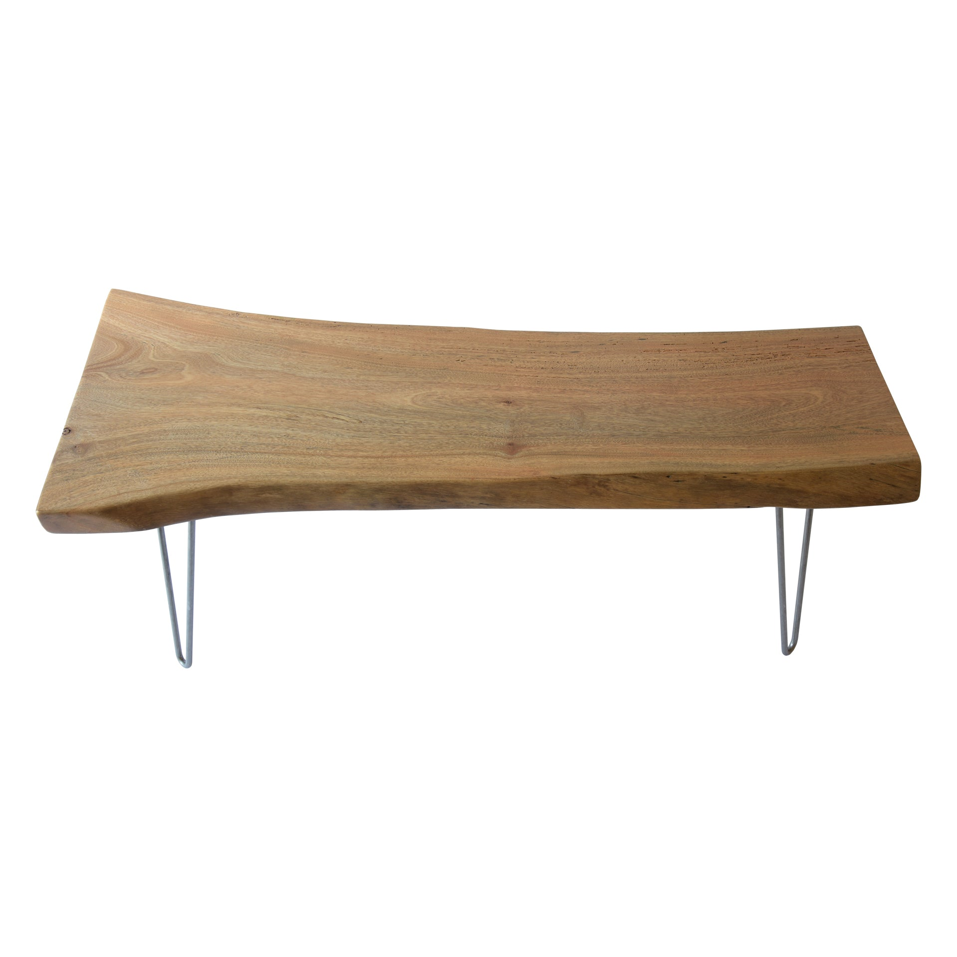 Light Live Edge Slab Handmade Coffee Table