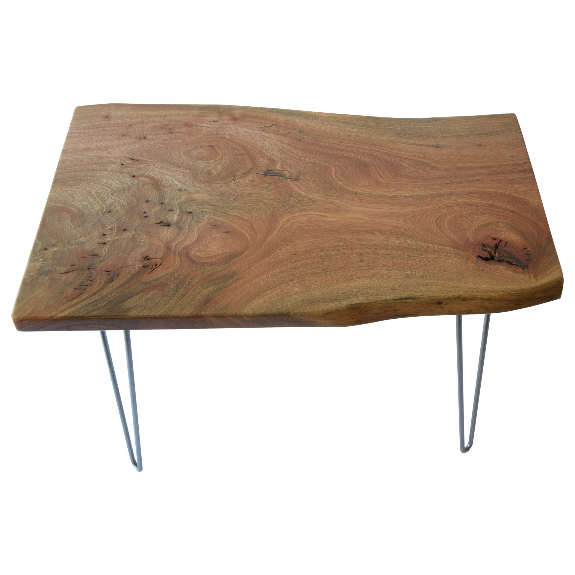 Light Live Edge Slab Handmade End Table
