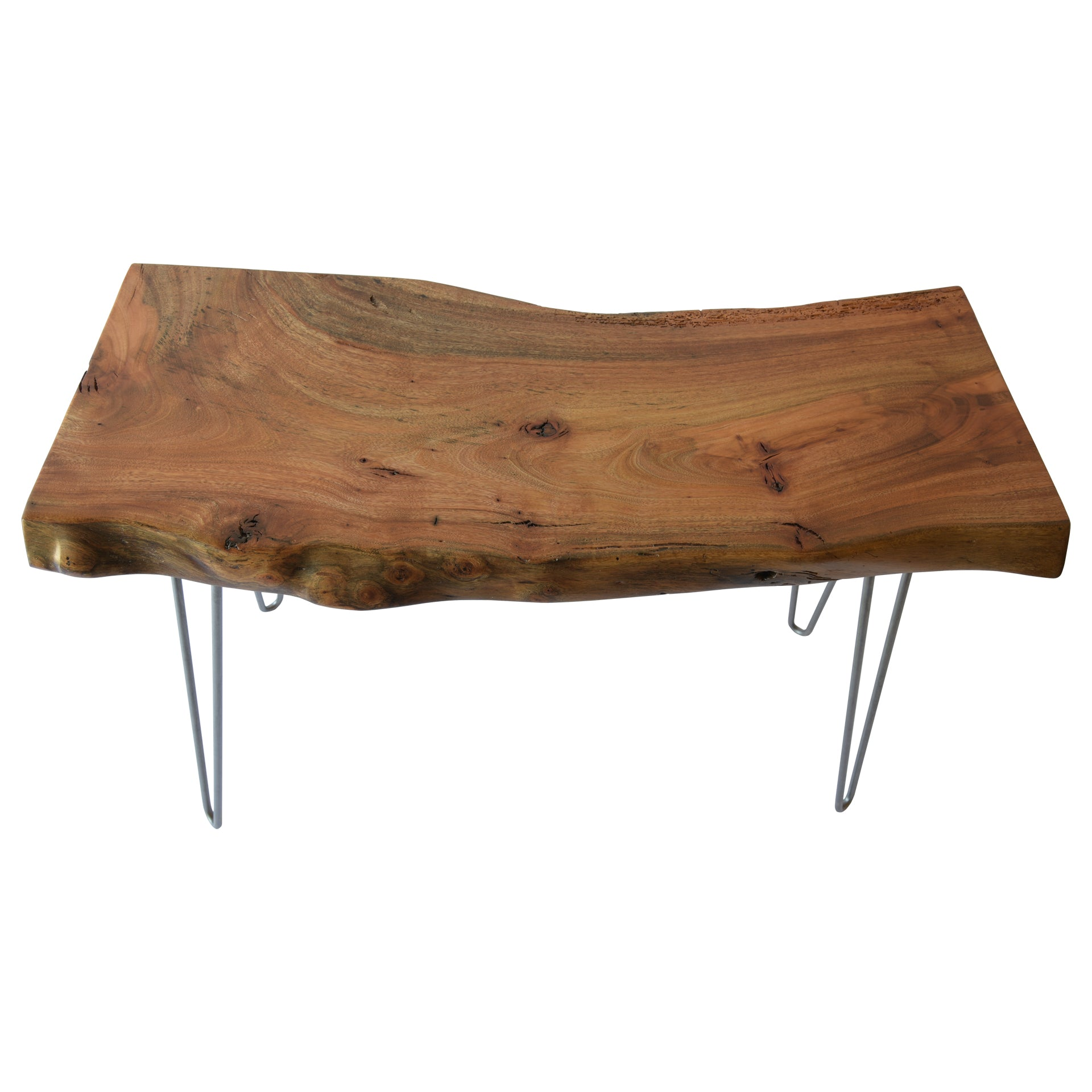 Light Live Edge Slab Reclaimed End Table