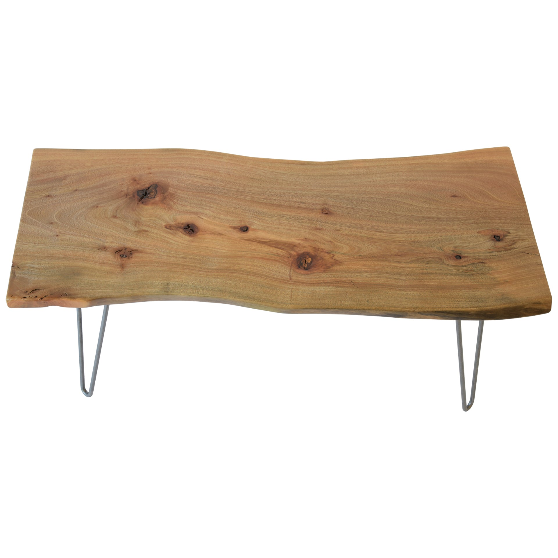 Light Live Edge Slab Rustic Coffee Table