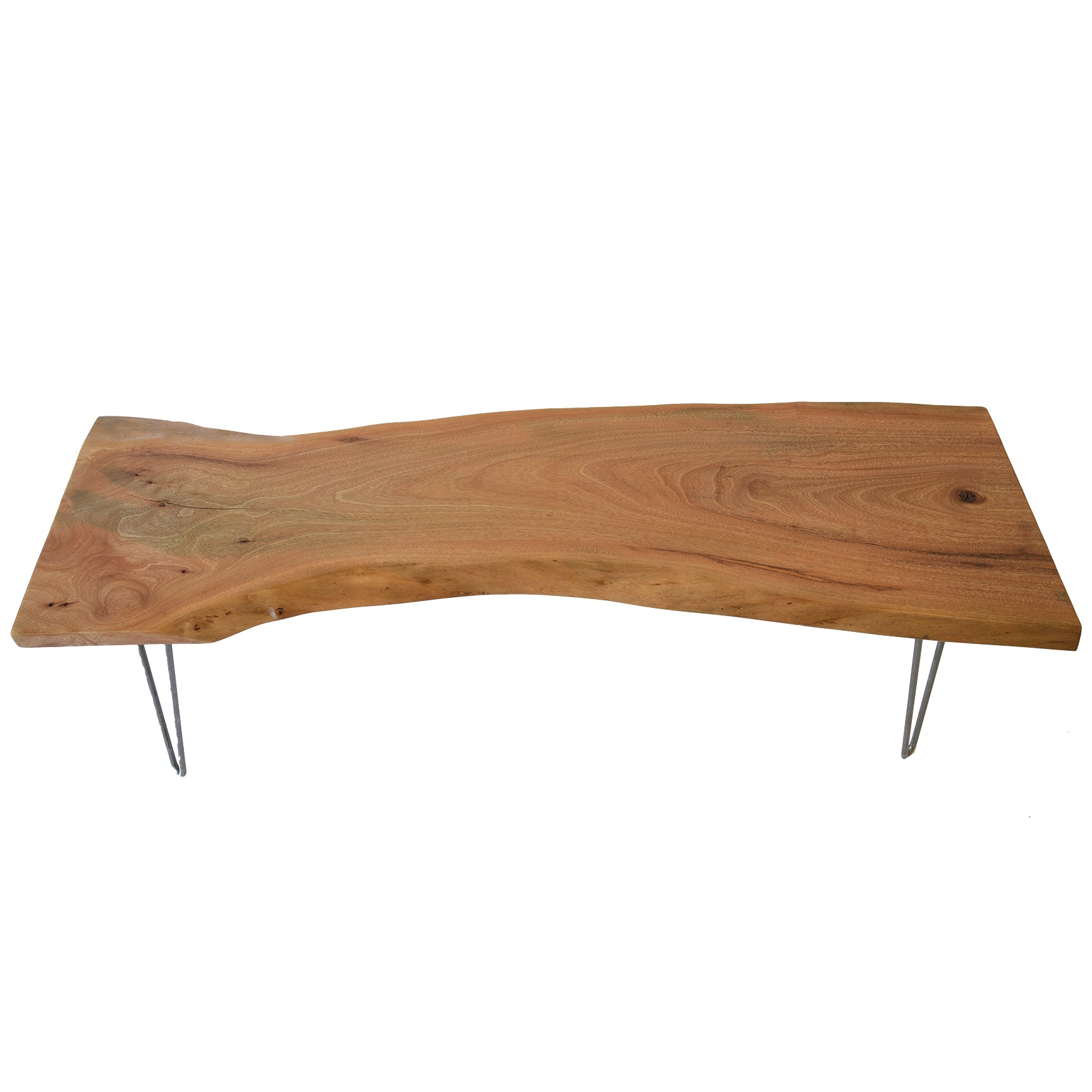 Light Wood Reclaimed Live Edge Coffee Table