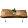 Live Edge Bohemian Slab Coffee Table
