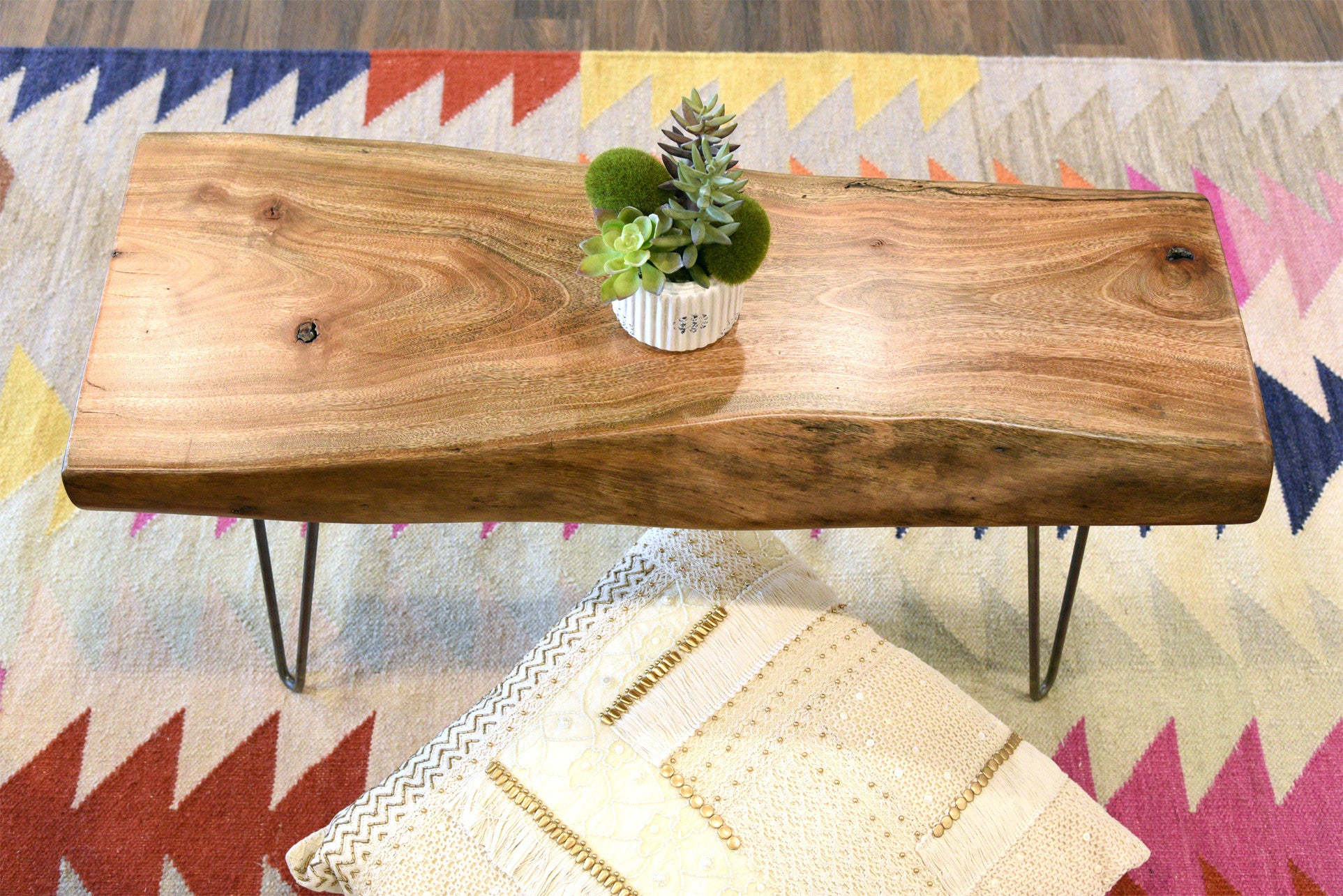 Reclaimed Live Edge Slab Furniture Woodwaves