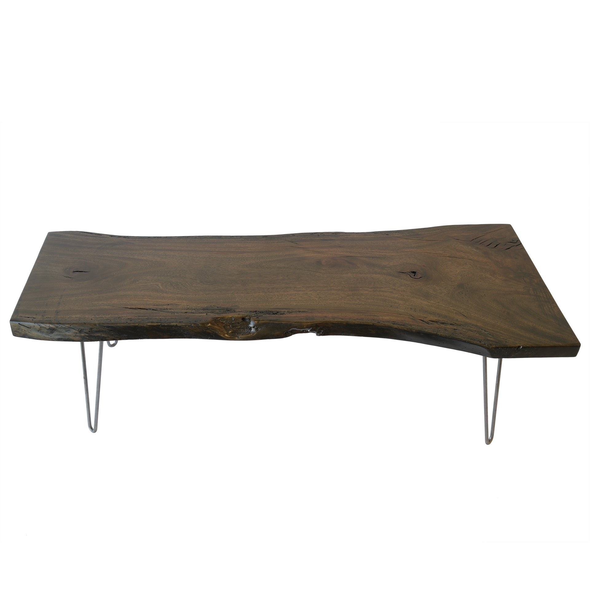 Live Edge Reclaimed Rustic Wood Slab Coffee Table