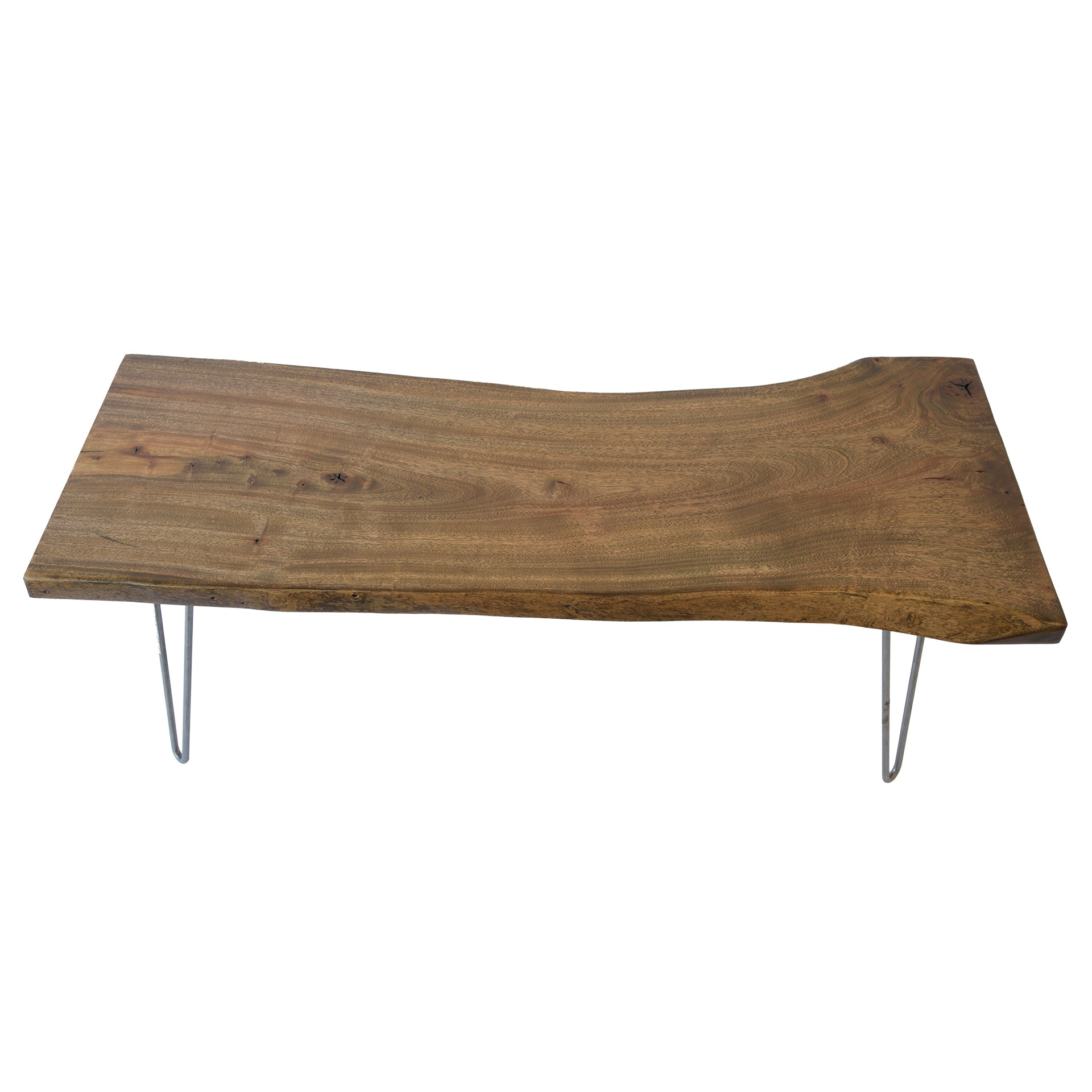 Rustic One Of A Kind Natural Teak Wood Slab Coffee Table: Reclaimed Live Edge Slab Furniture