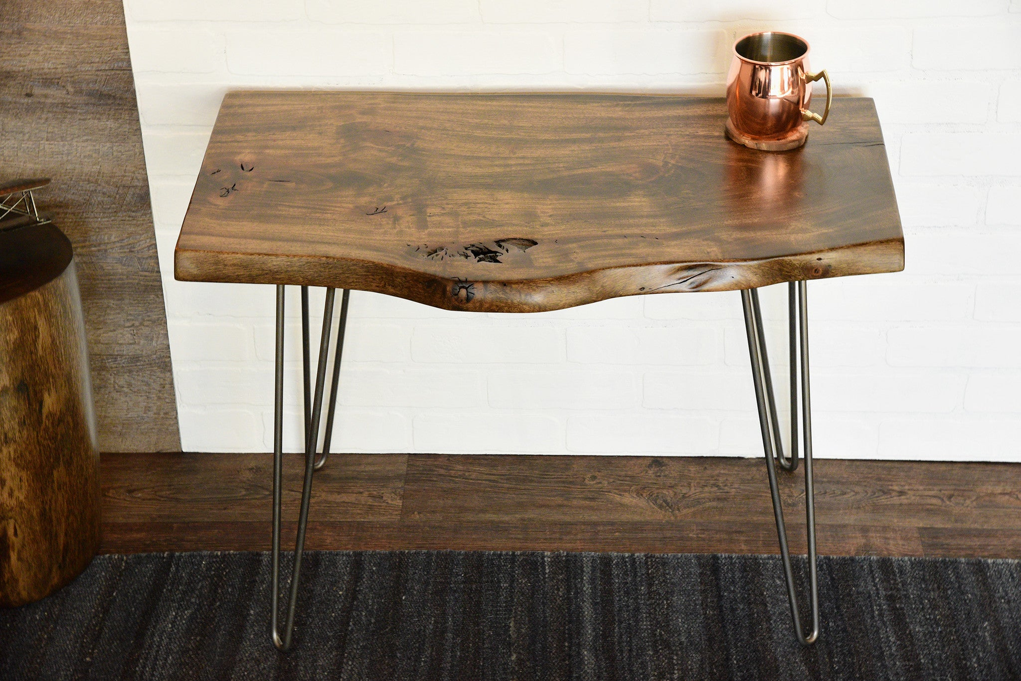 High Quality Live Edge Slab Rustic End Table