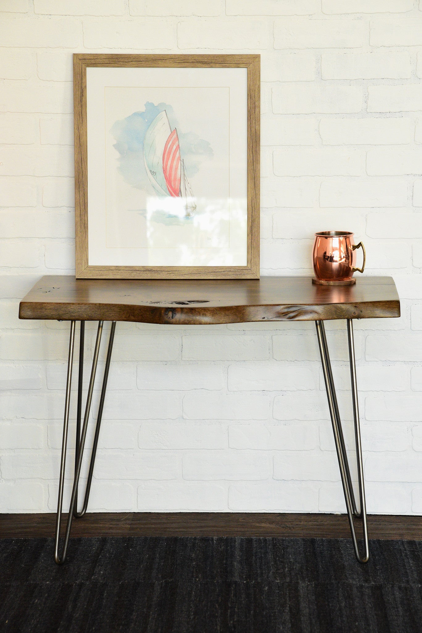 Live Edge Slab Rustic End Table Woodwaves