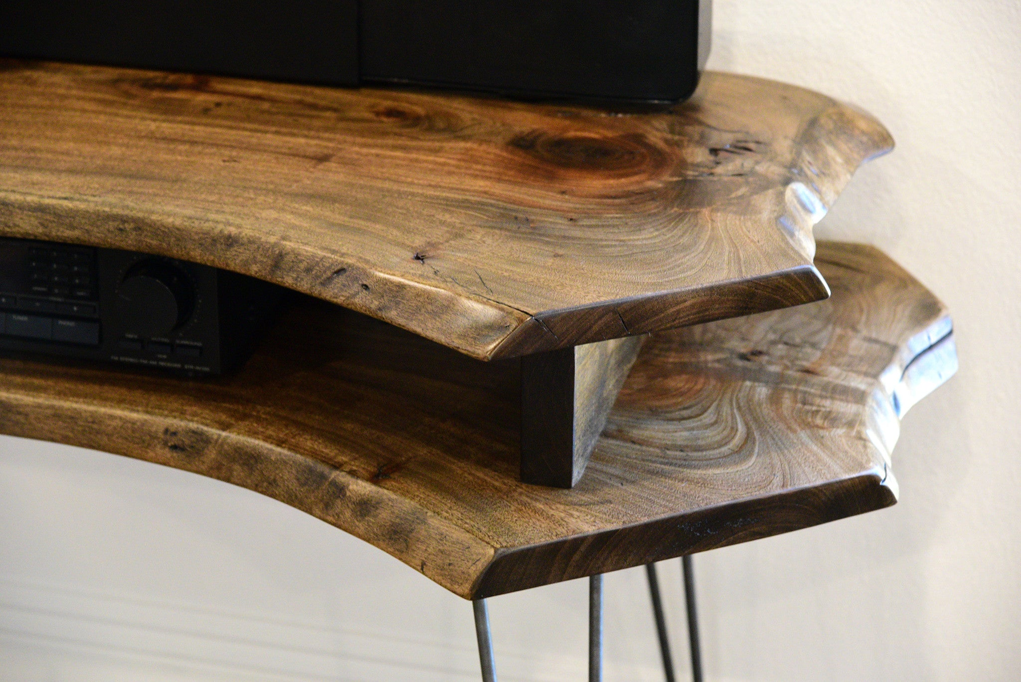 Labor Day Furniture Sale >> Live Edge Slab Mid Century TV Stand - Woodwaves