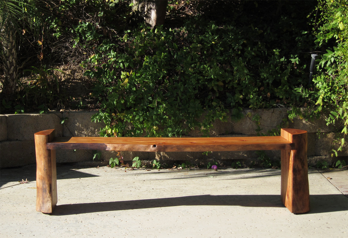 Modern outdoor wood bench - Modern Reclaimed Log Bench Coffee Table