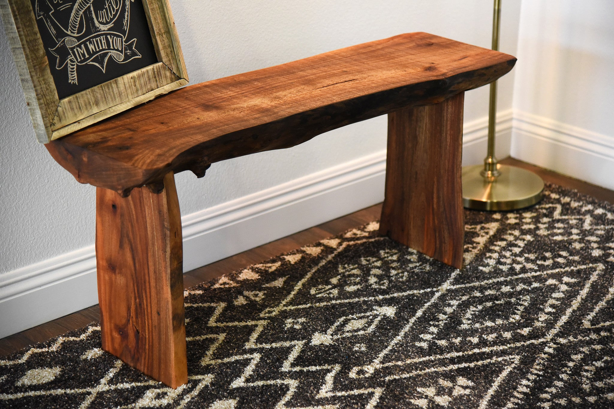 Rustic Log Bench Live Edge Slab Coffee Table Woodwaves
