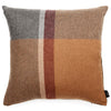 Gray and Orange Plaid Alpaca Wool Pillow Cover