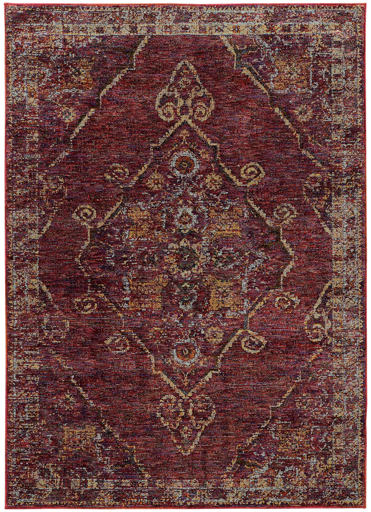 Maroon purple worn traditional vintage style rug woodwaves for Vintage style area rugs
