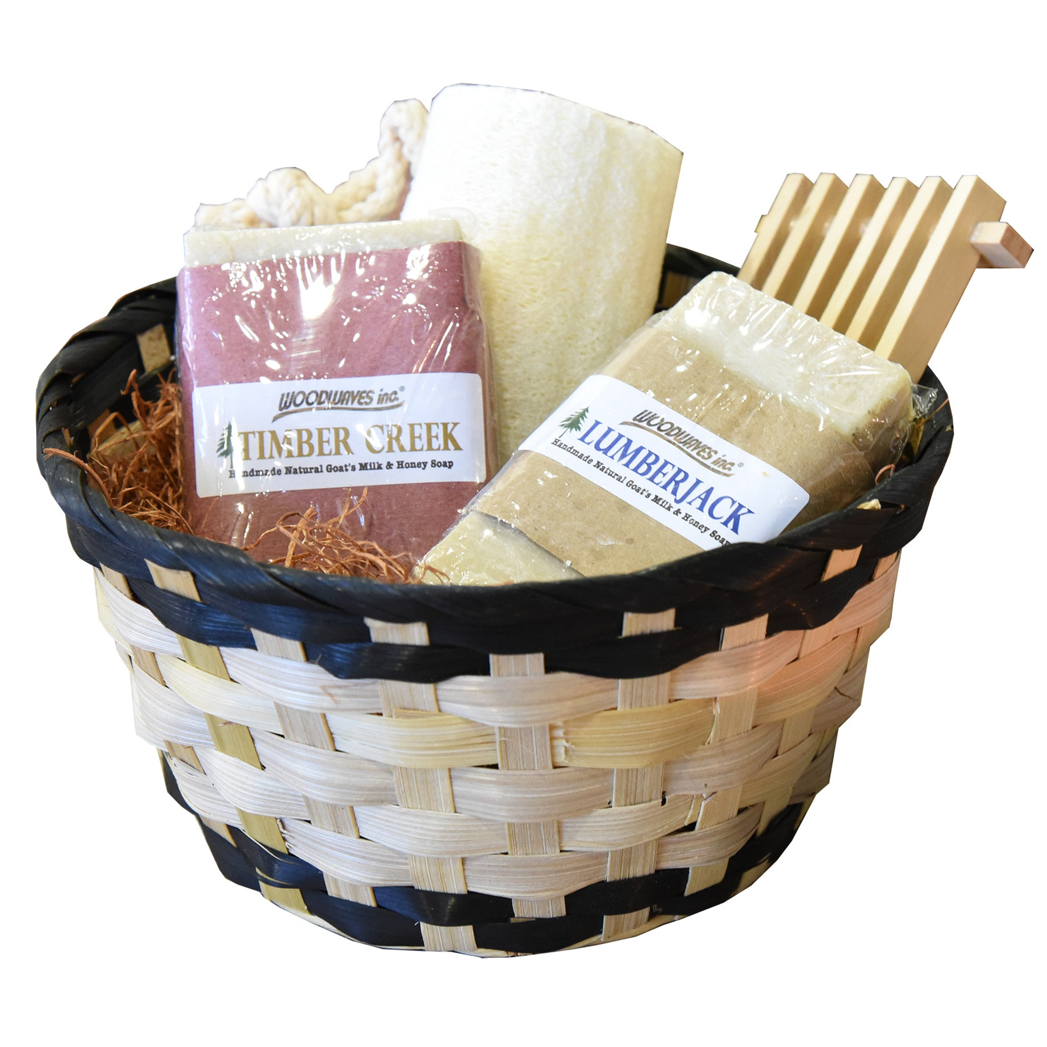 Handmade men 39 s spa gift basket bath set goat 39 s milk soap for Mens bath set