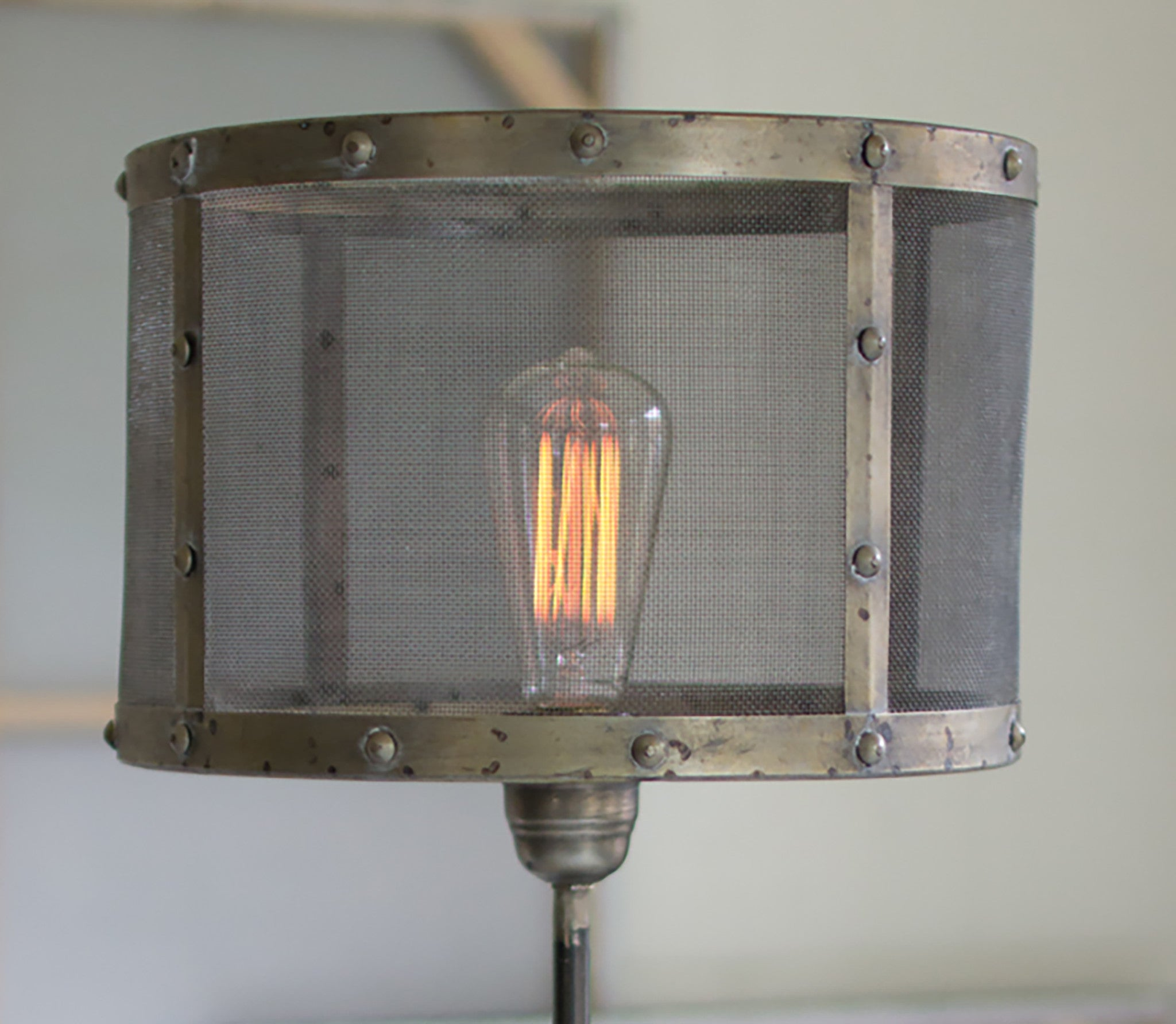 Wire mesh table lamp woodwaves wire mesh table lamp keyboard keysfo Images
