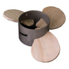 Nautical Beach House Wood and Metal Propeller Coaster Set