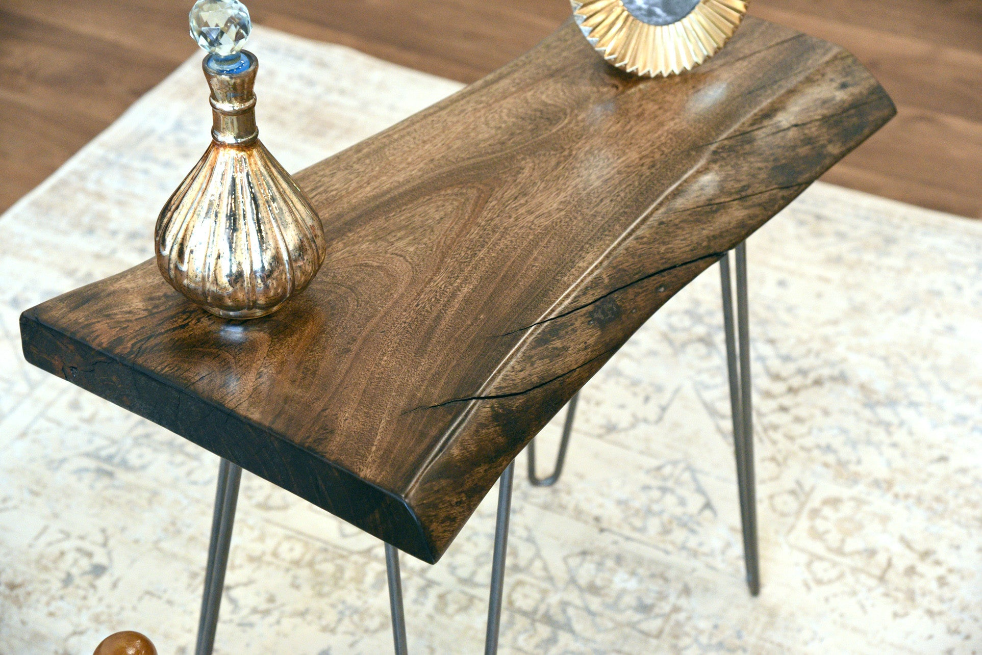 Mid Century Modern Live Edge End Table
