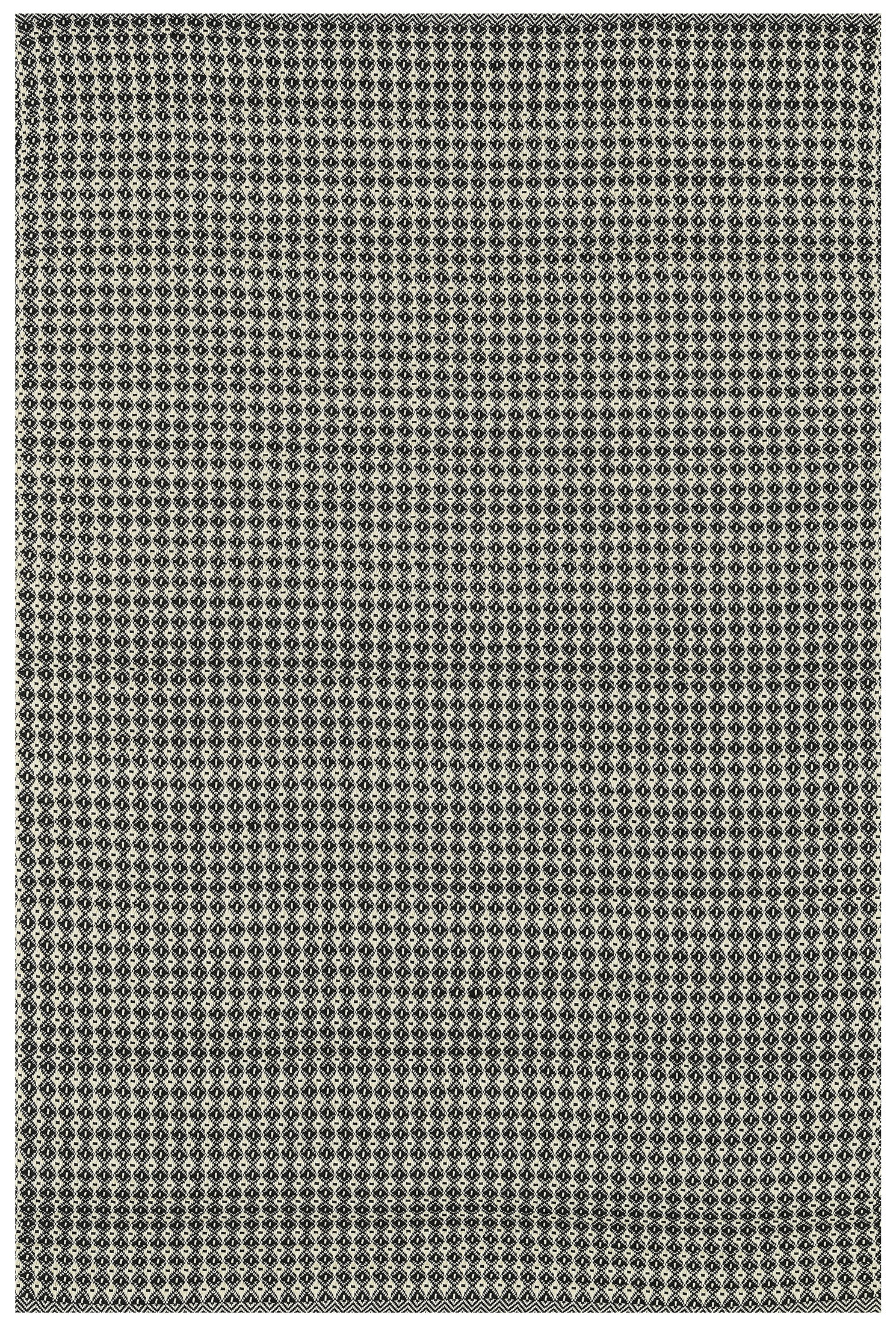 Mid Century Modern Black Neutral Woven Outdoor Rug Woodwaves