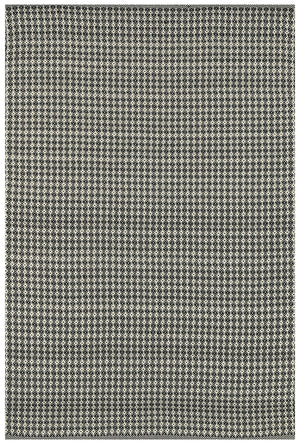 Mid Century Modern Black Neutral Woven Outdoor Rug