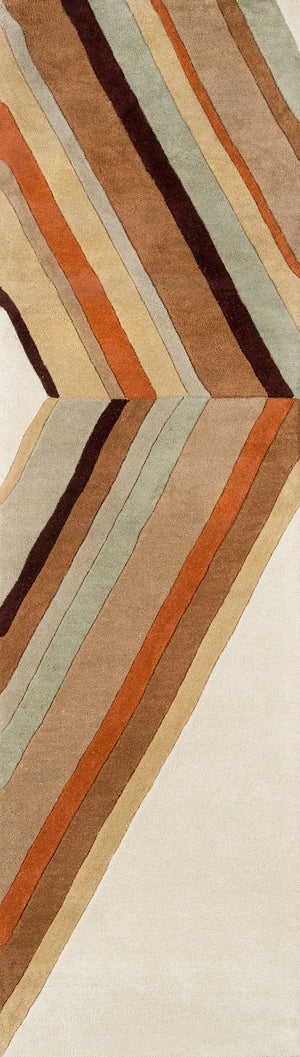 80s Ultralight Style Orange Brown Ivory Rug - Novogratz - Del Mar