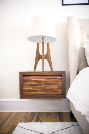 Floating Wall Mount Nightstand - ECO GEO - Mocha