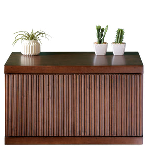 Mid Century Modern Wall Mounted Floating Nightstand - Curve - Mocha