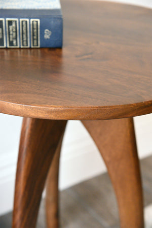 Retro Solid Wood Side Table