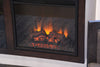 Floating Hanging Fireplace TV Stand - ECO GEO Espresso