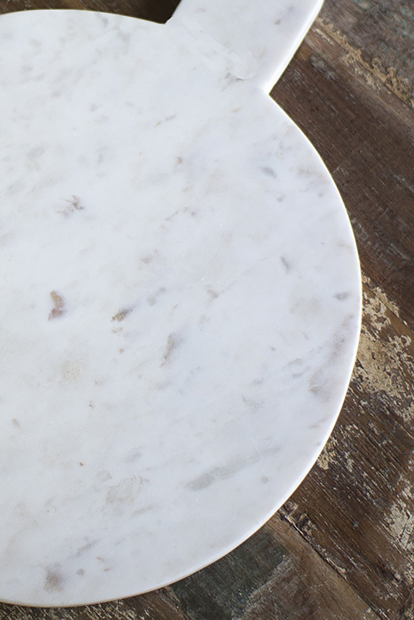 Modern Round White Marble Cutting & Serving Board