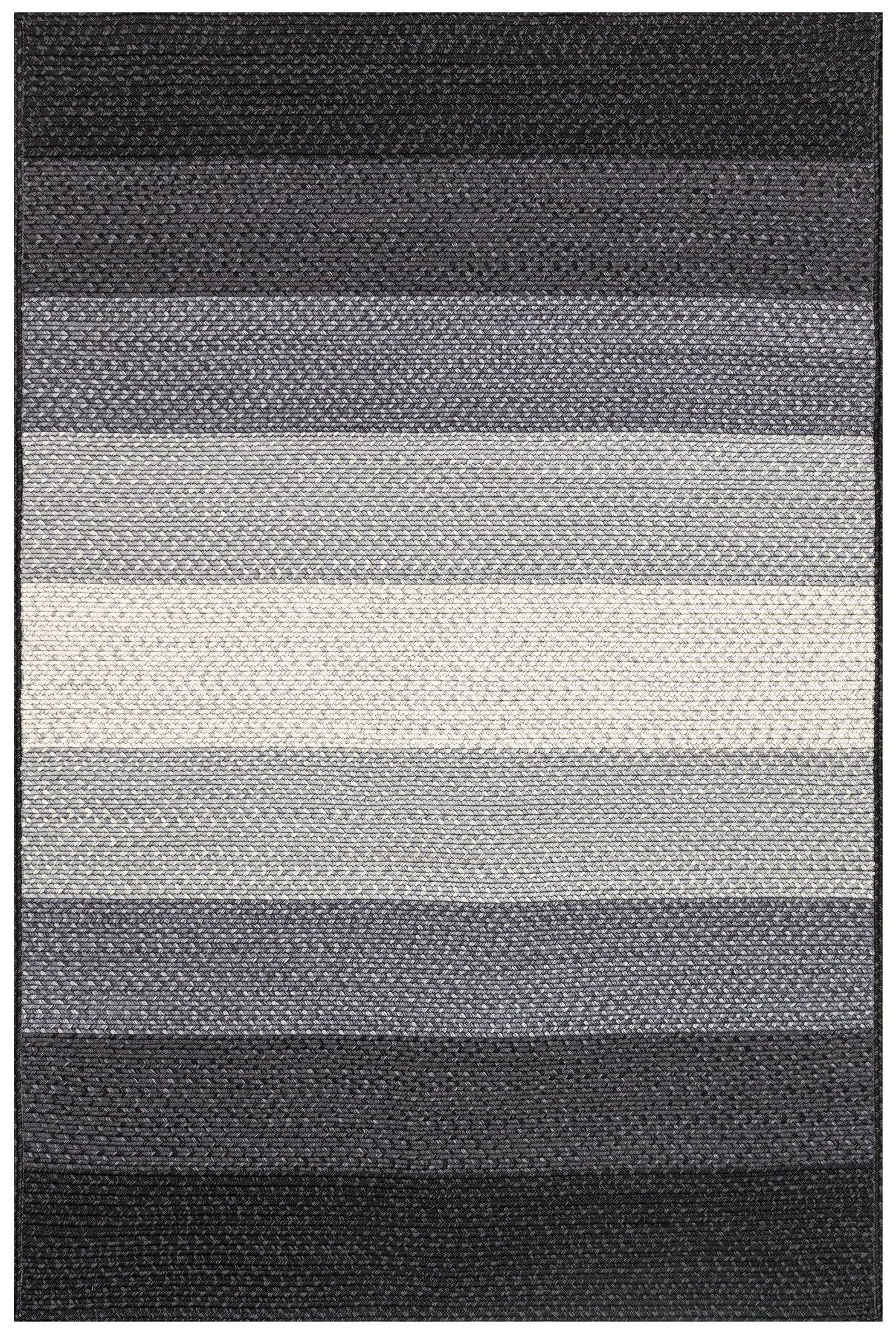 modern outdoor rugs  woodwaves - modern black gray striped outdoor rug