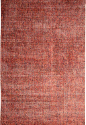 Modern Faded Red Rose Ivory Wool Area Rug