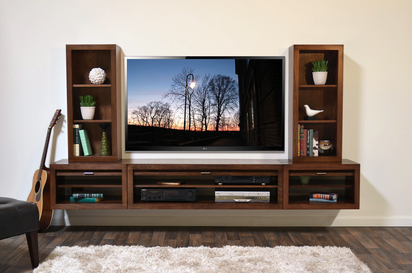 Merveilleux Floating Entertainment Center Wall Mount TV Stand   ECO GEO Mocha