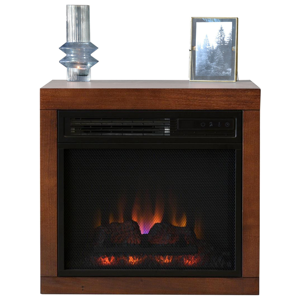 Wall Mount Floating Fireplace - ECO GEO Mocha
