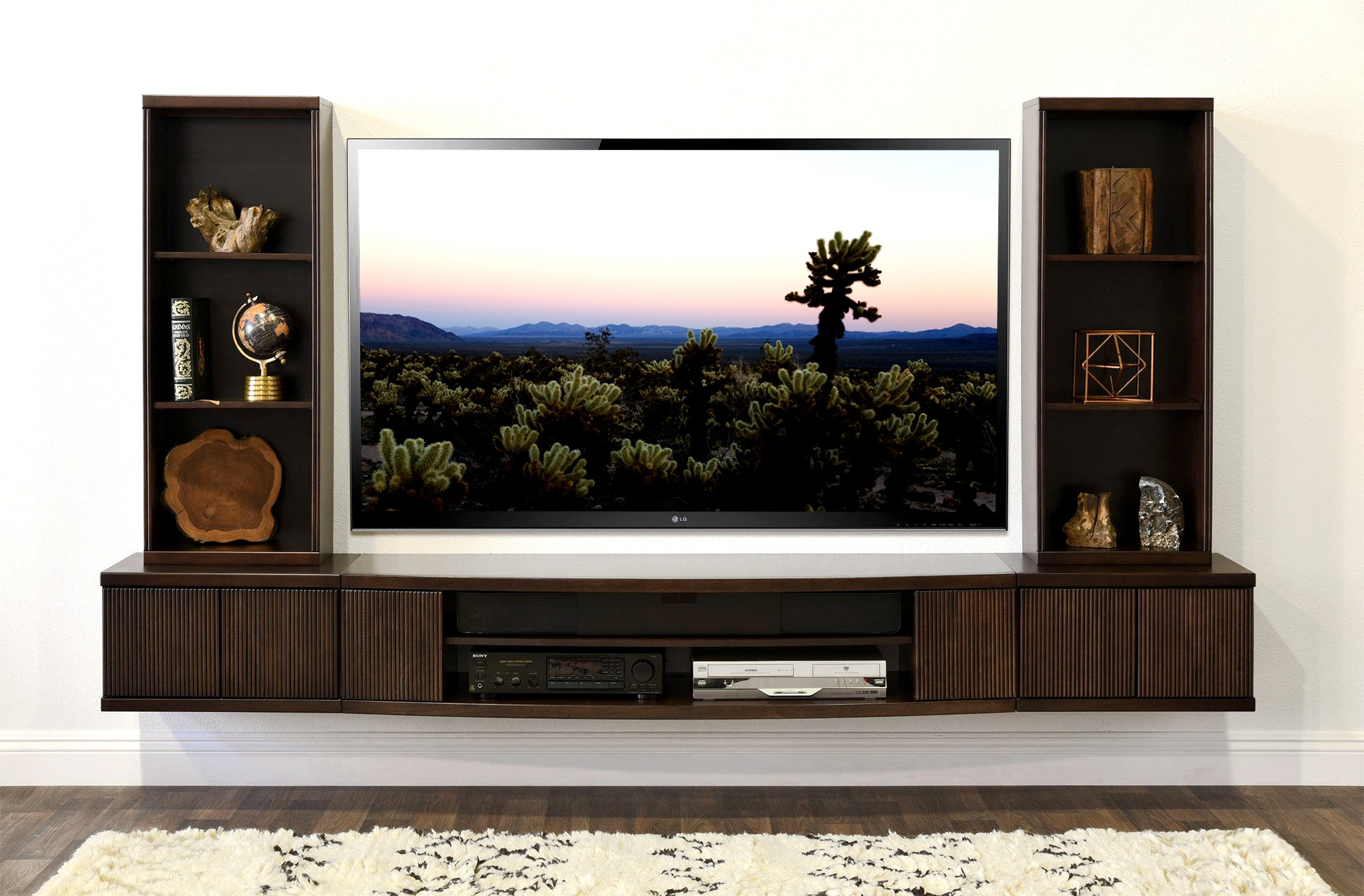 Floating Tv Stand Wall Mount Entertainment Center The Curve 5
