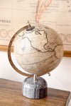 Gray Decorative Globe With Marble Base