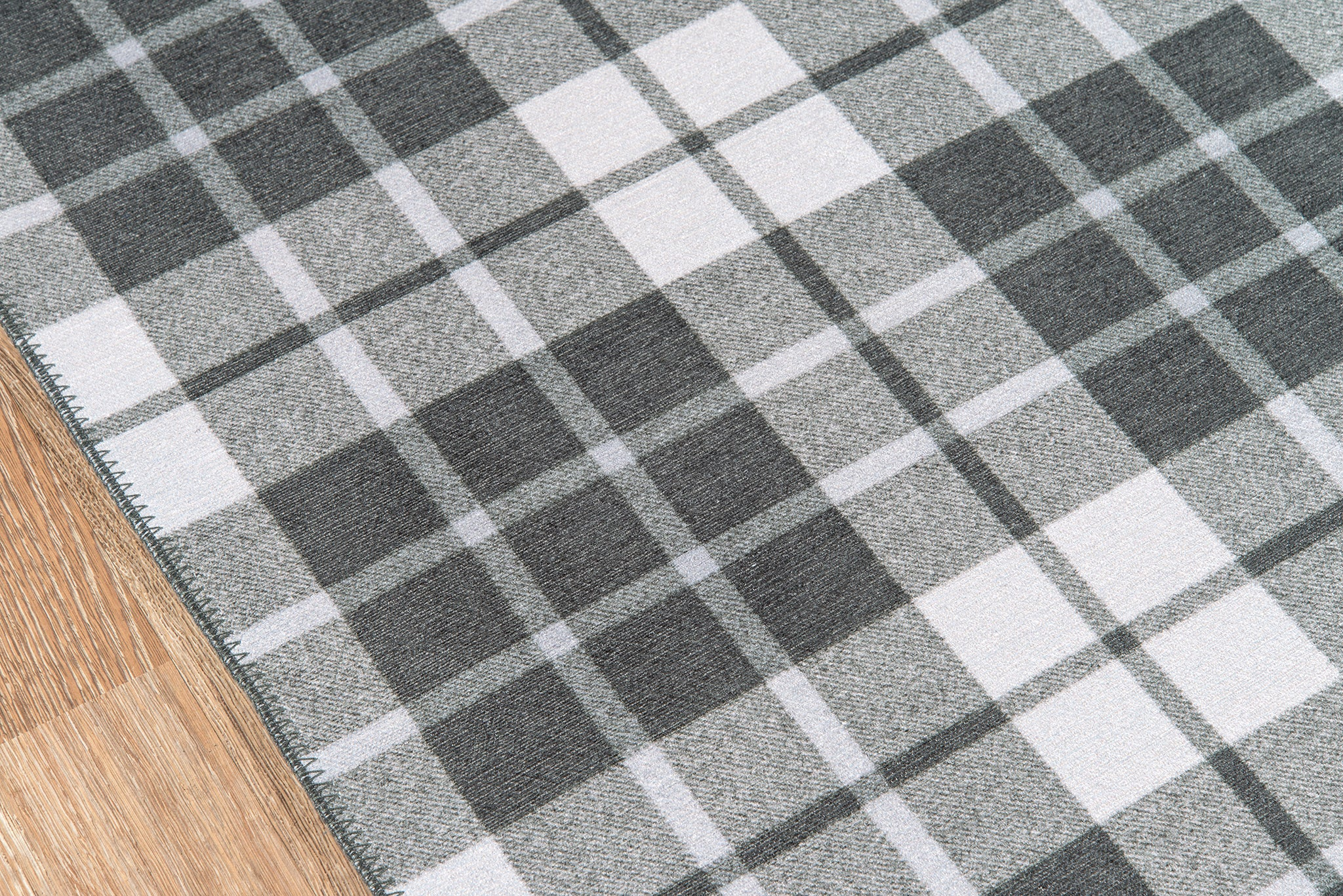 Gray Plaid Tartan Area Rug - Novogratz - District