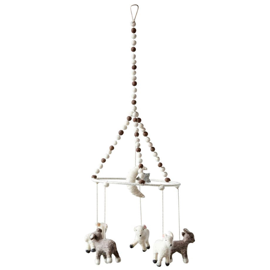 Modern Lamb Wool Baby Mobile