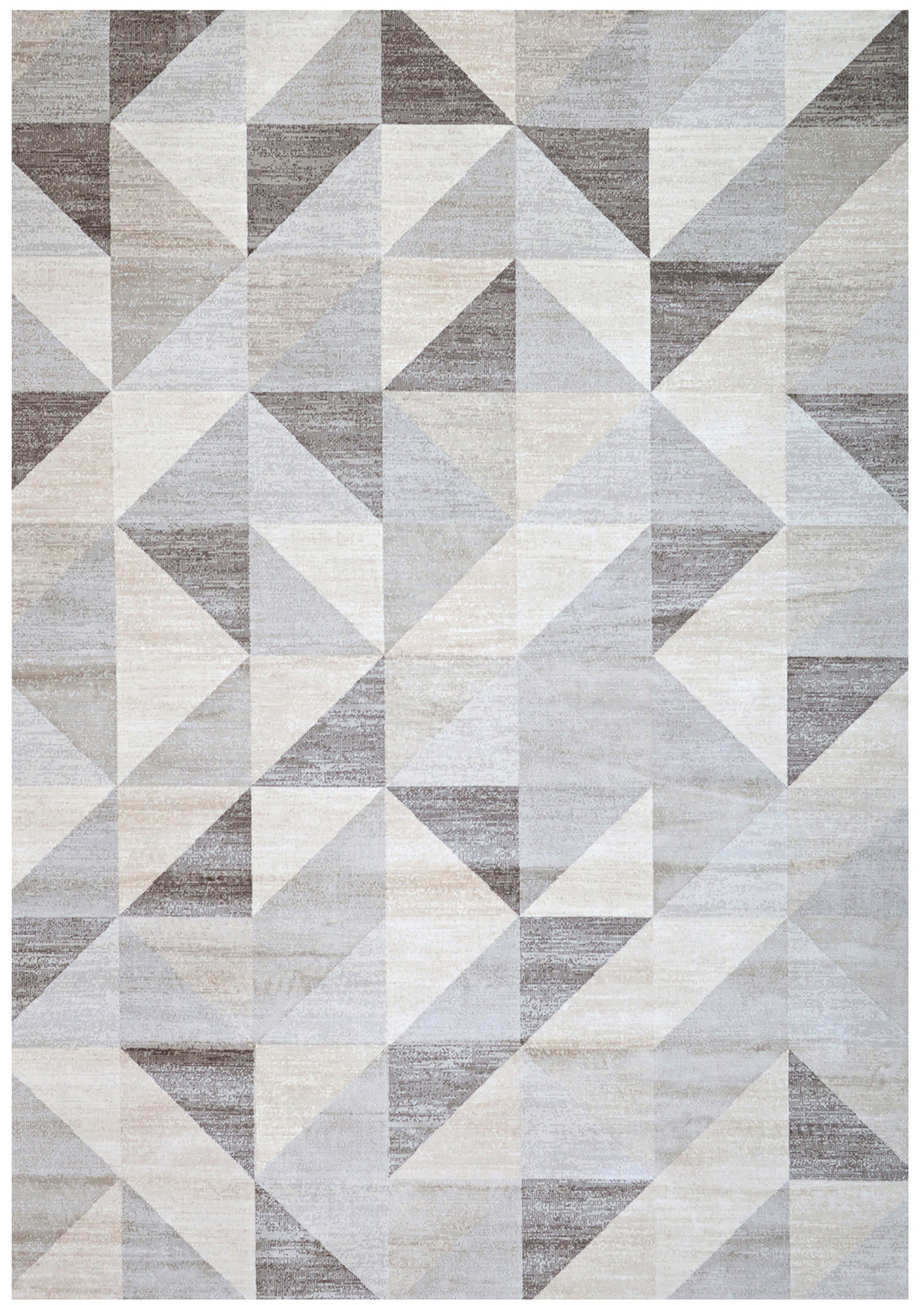 rugs  woodwaves - silver gray and white modern geometric triangle pattern rug