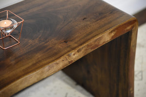 Modern Live Edge Slab Coffee Table