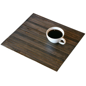Sofa Tray Table Flexible Wood Slats - Light Espresso