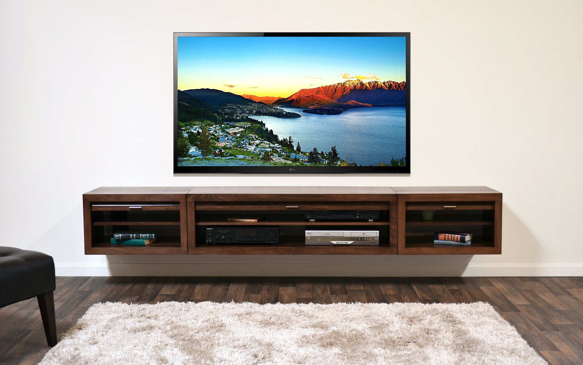 28 Wall Mount Floating Entertainment Center