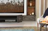 French Shabby Chic Floating TV Stand Entertainment Center Wall - Vintage - 3 Piece & Bookcases - Driftwood Gray